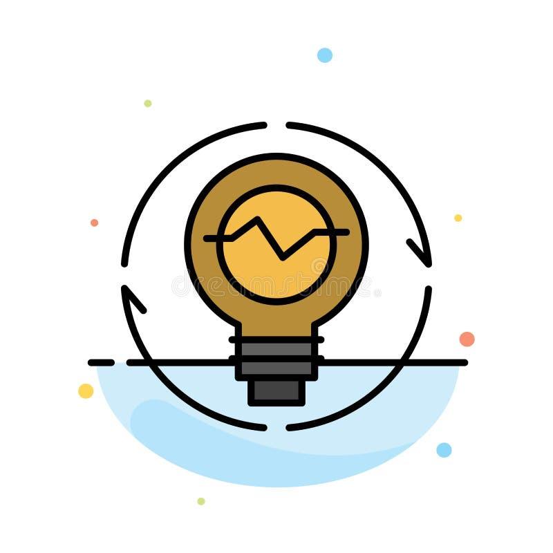 Kula begrepp, utveckling, idé, innovation, ljus, mall för symbol för färg för ljuskula abstrakt plan vektor illustrationer