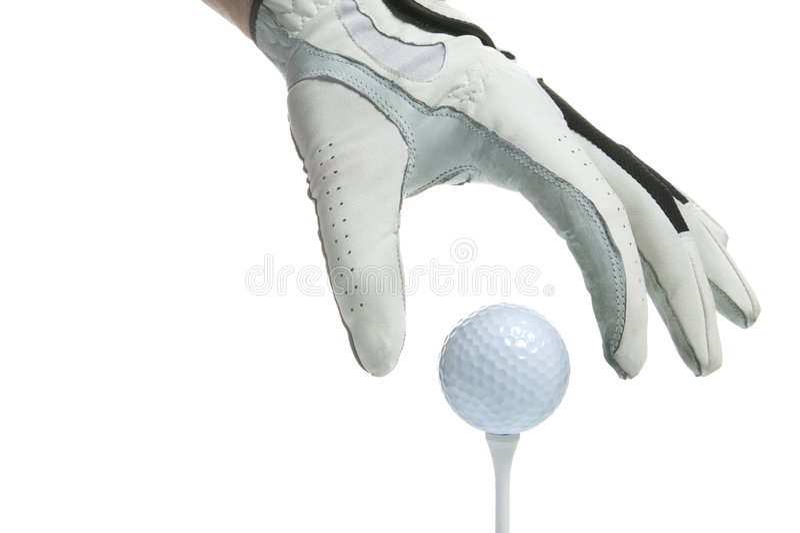 kula golf rękawiczek tee, zdjęcia stock