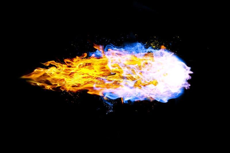 Kula ognista realistyczny ogień ilustracja wektor