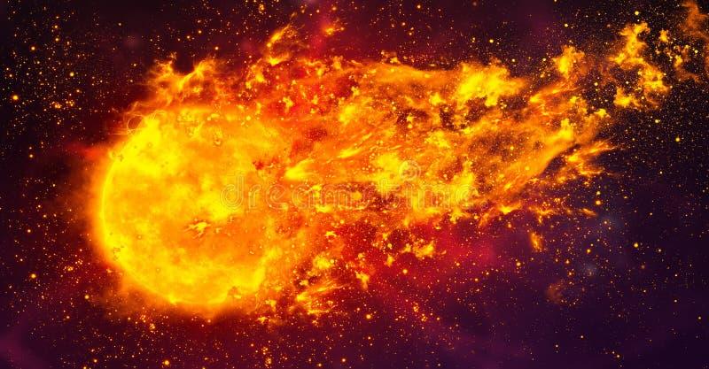Kula ognista w przestrzeni zdjęcie royalty free