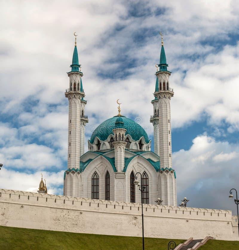 Kula Sharif meczet, Kazan, Tatarstan Rosja Jesień 2016 obrazy stock