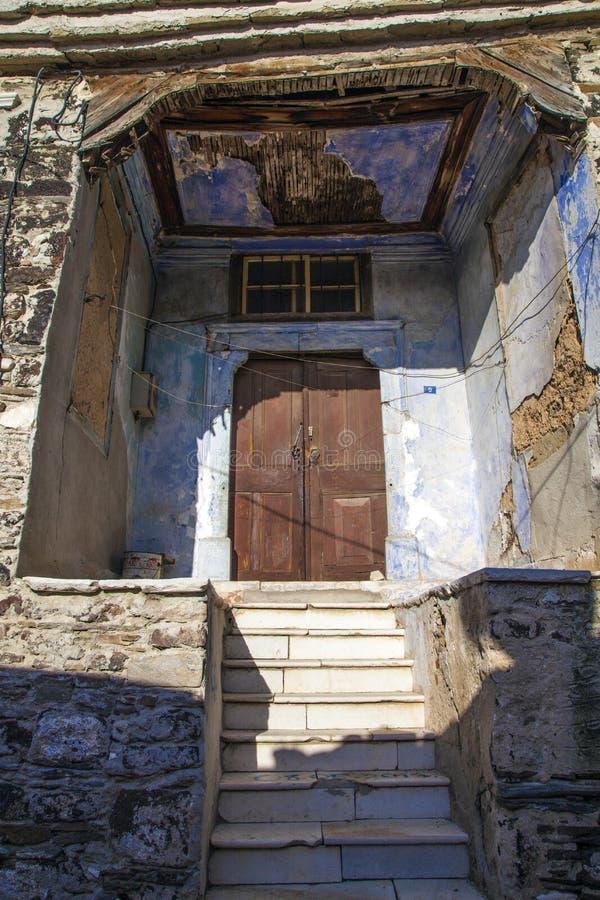 Historical Kula Homes. Kula, Turkey - January 06, 2018; Historical Kula Homes. Kula is a historical town in Manisa, Turkey. Kula`s other name is Burned Land royalty free stock photos