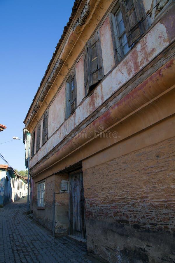 Historical Kula Homes. Kula, Turkey - January 06, 2018; Historical Kula Homes. Kula is a historical town in Manisa, Turkey. Kula`s other name is Burned Land stock images