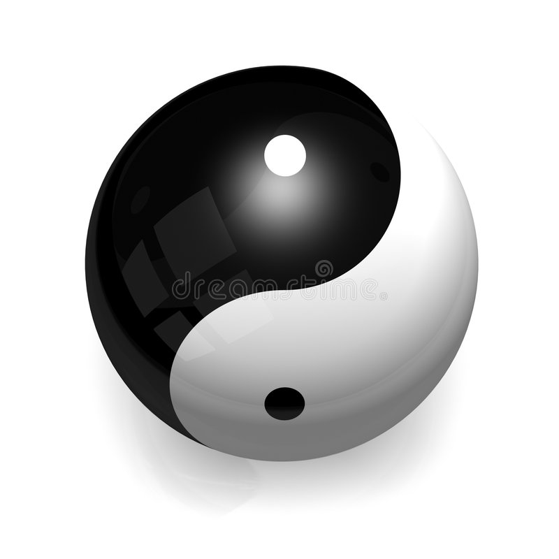 kula ying Yang ilustracji