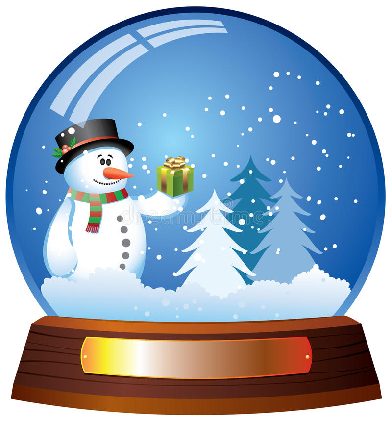 kula ziemska śnieg ilustracji