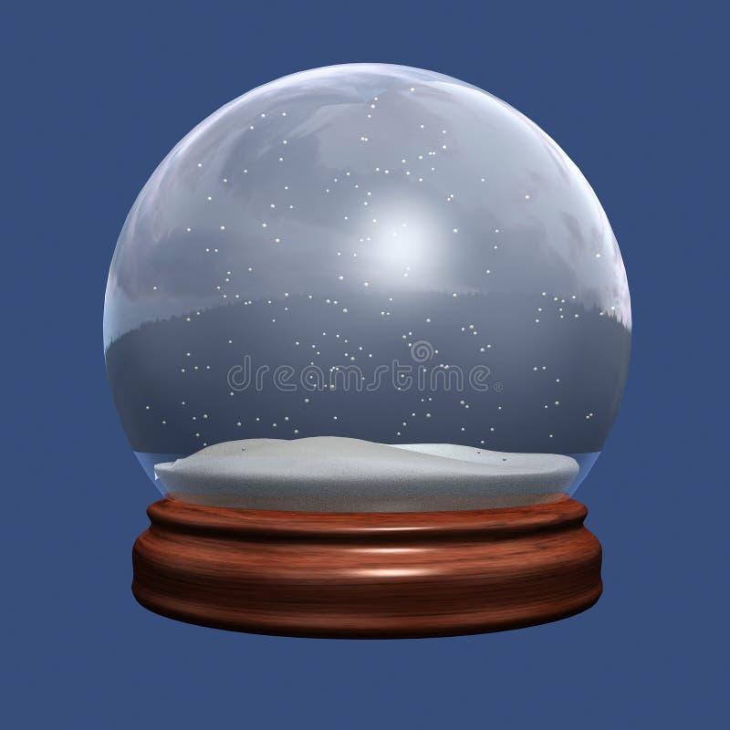 kula ziemska śnieg royalty ilustracja