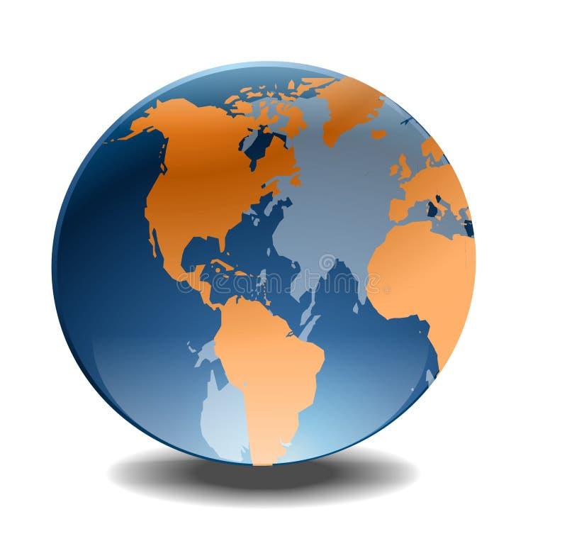 kula ziemska świat royalty ilustracja