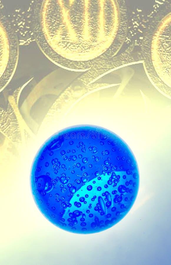 kula ziemska błękitny pieniądze obraz stock