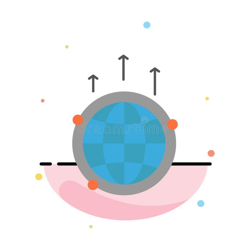 Kula ziemska, biznes, komunikacja, związek, Globalny, Światowy Abstrakcjonistyczny Płaski kolor ikony szablon, ilustracji
