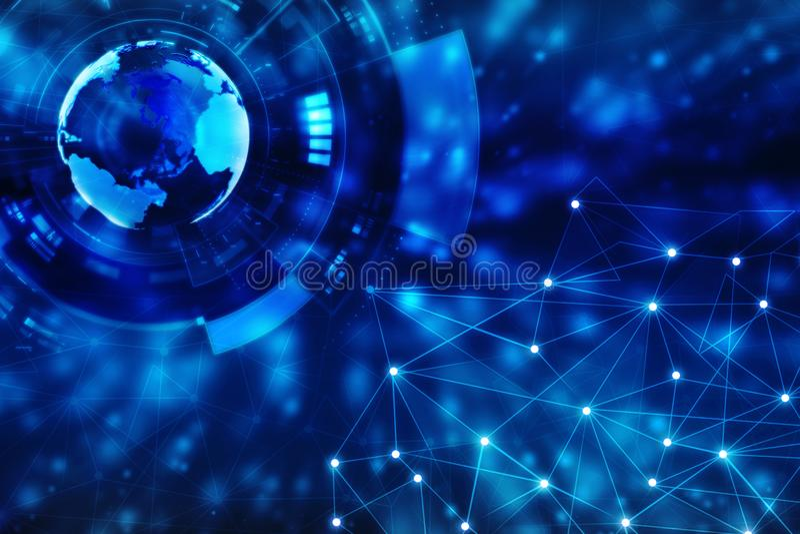 Kula ziemska interneta złączony tło royalty ilustracja