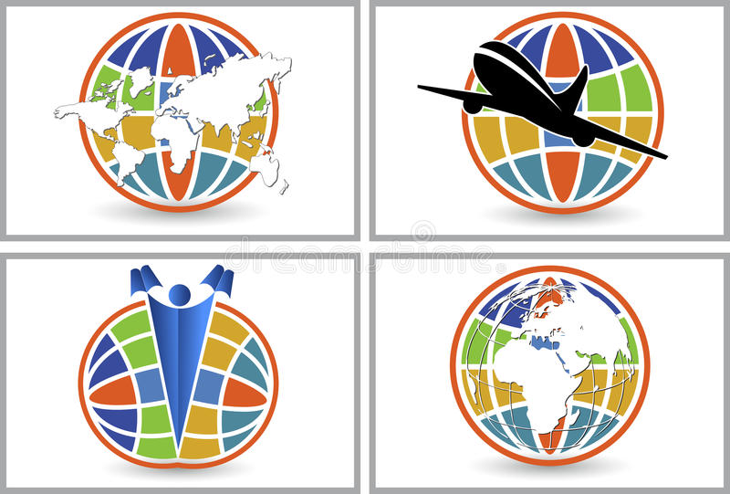 Kula ziemska loga kolekcje royalty ilustracja