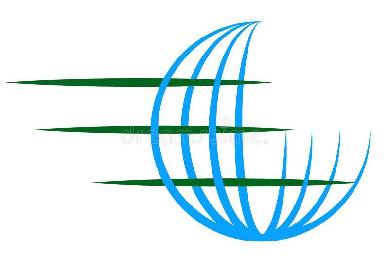 Kula ziemska logo royalty ilustracja