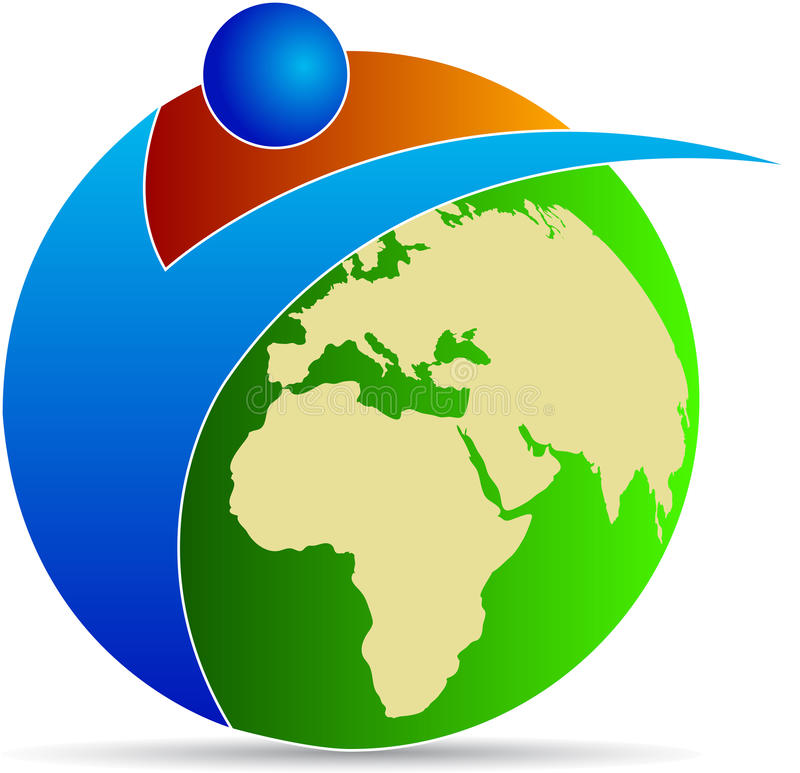 Kula ziemska logo ilustracji