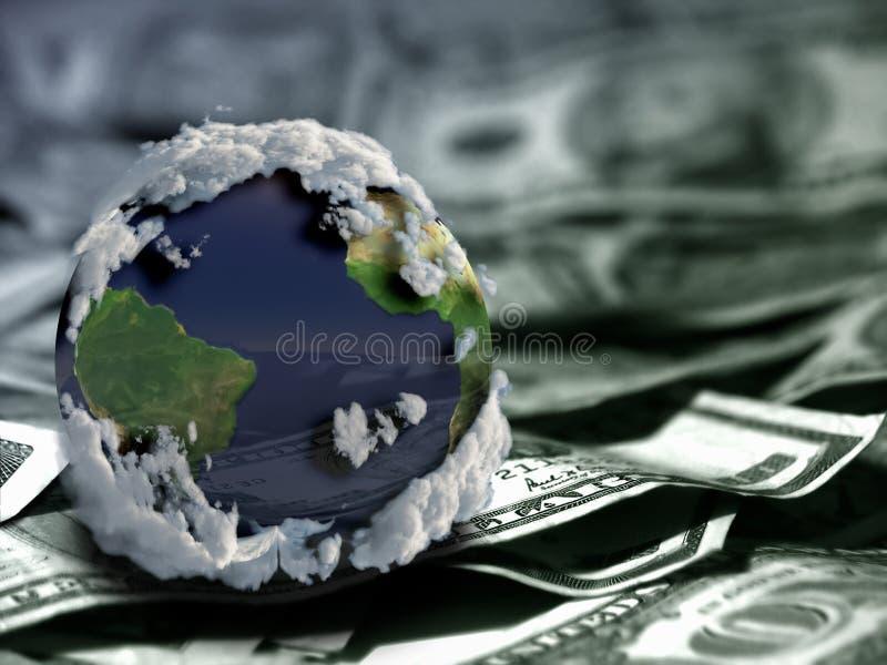 Kula ziemska na USA dolarach zdjęcia stock