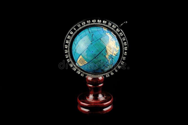 Kula ziemska odizolowywająca na czerni zdjęcia royalty free
