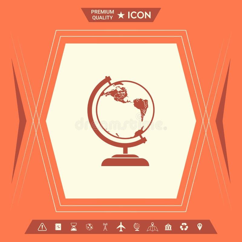 Kula ziemska symbol - ikona ilustracji