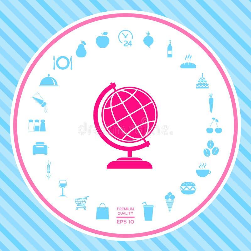 Kula ziemska symbol - Ziemska ikona ilustracja wektor