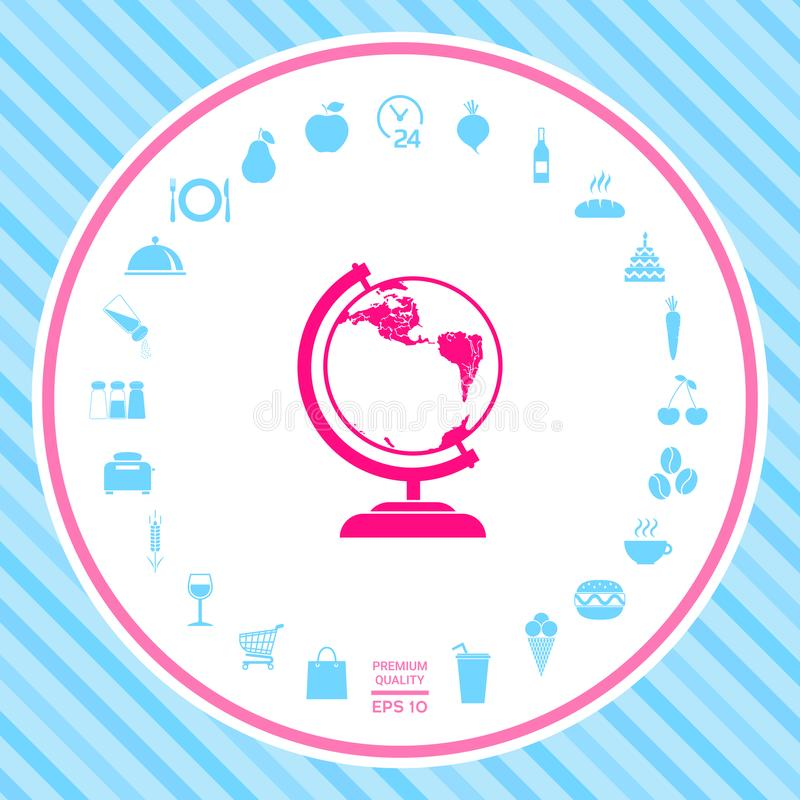 Kula ziemska symbol - ikona royalty ilustracja