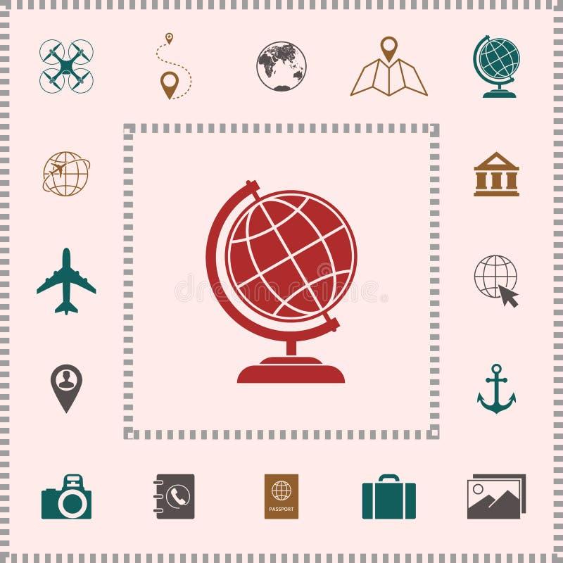 Kula ziemska symbol - Ziemska ikona royalty ilustracja