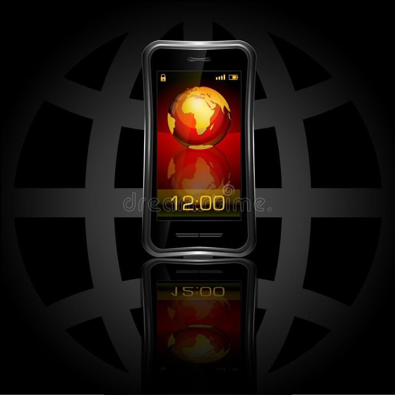 kula ziemska telefon mobilny nowożytny ilustracji