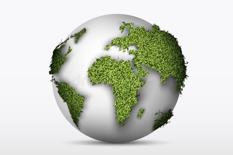 Kula ziemska z zieloną trawą ilustracja wektor