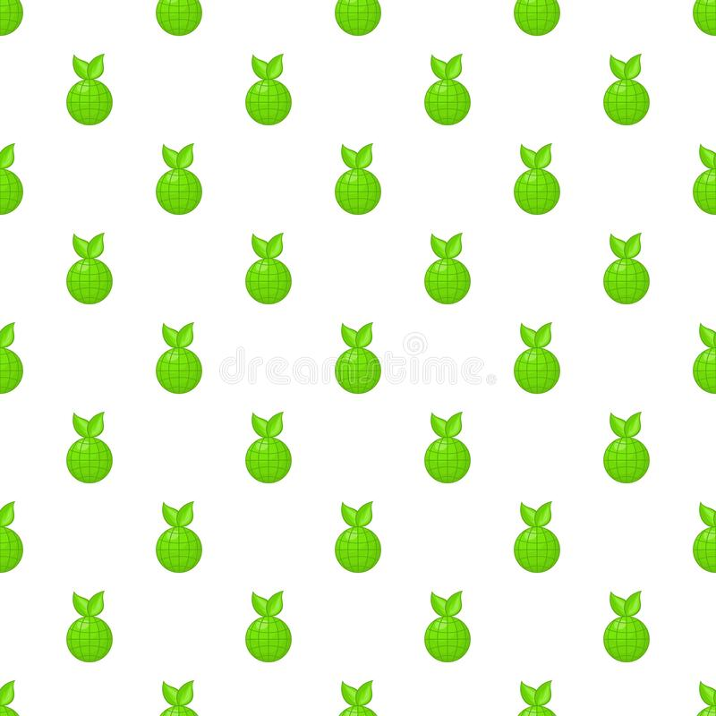 Kula ziemska z zielonym liścia wzorem, kreskówka styl royalty ilustracja