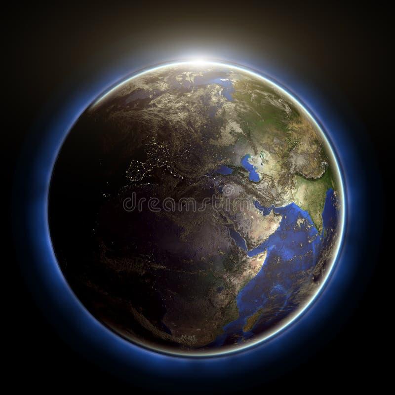 kula ziemska zmierzch ilustracji