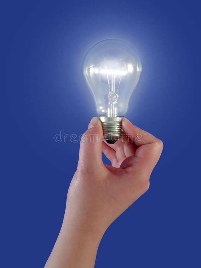 kulabegreppslampa royaltyfri foto