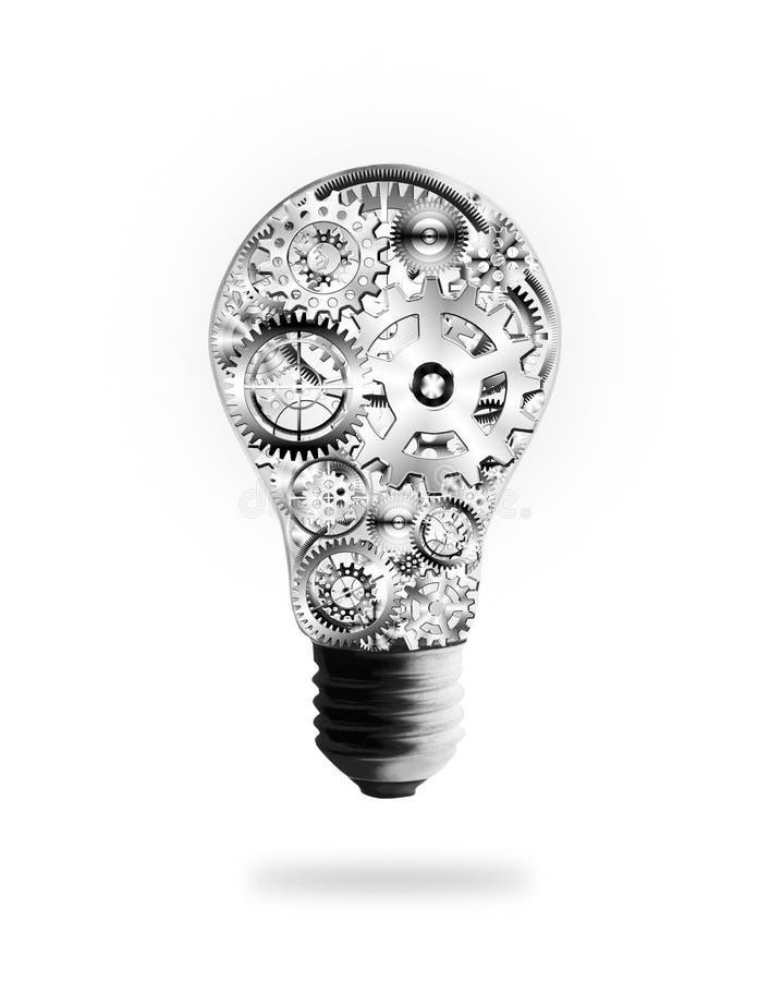 kulakuggar planlägger kugghjullampa vektor illustrationer