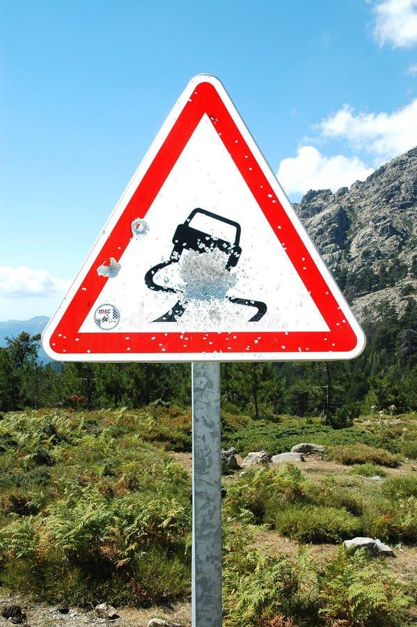 Kulan Corsica Holes Vägmärket Royaltyfria Foton