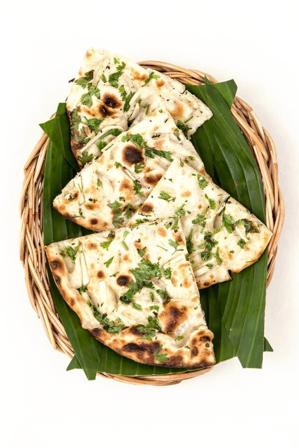 Kulcha indien de nourriture, pain d'Indien de Kulcha photographie stock libre de droits