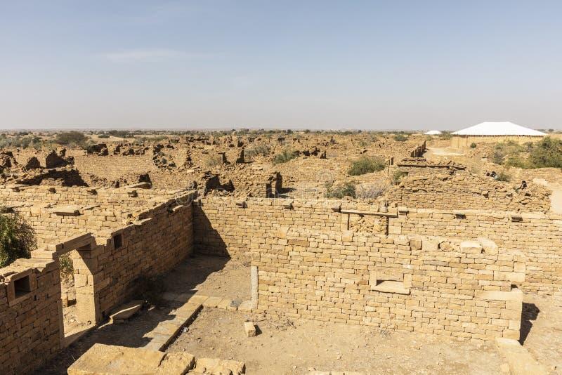 Kuldhara放弃了村庄|贾沙梅尔|拉贾斯坦|印度 免版税图库摄影