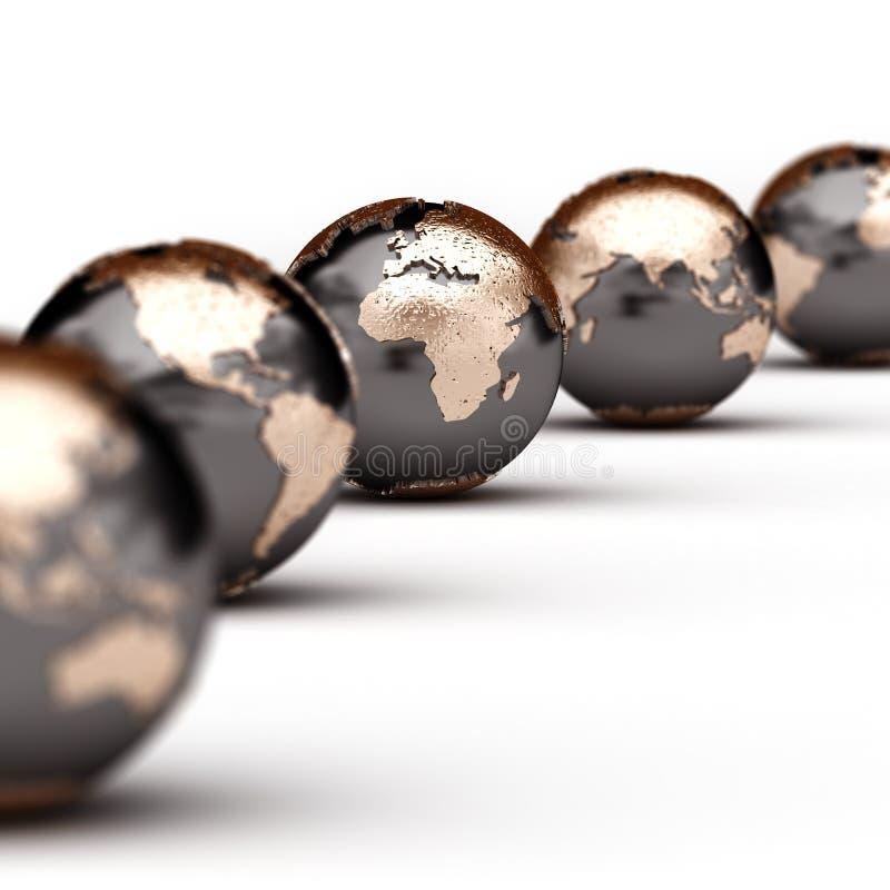 kule ziemskie światowe ilustracji