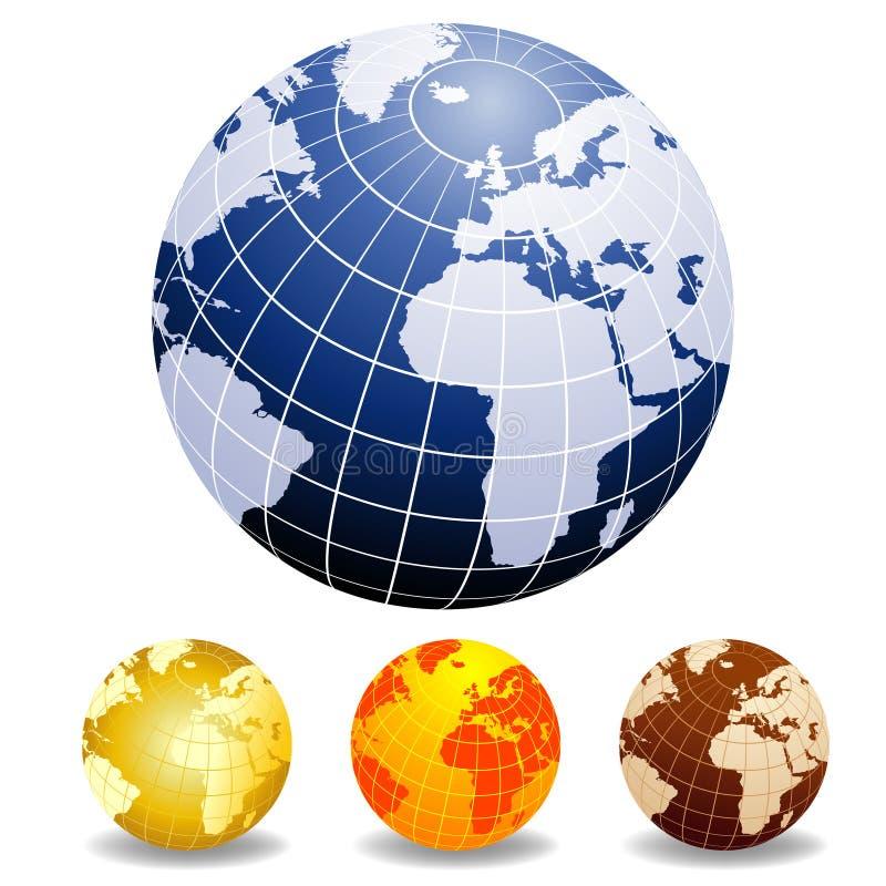 kule ziemskie światowe royalty ilustracja