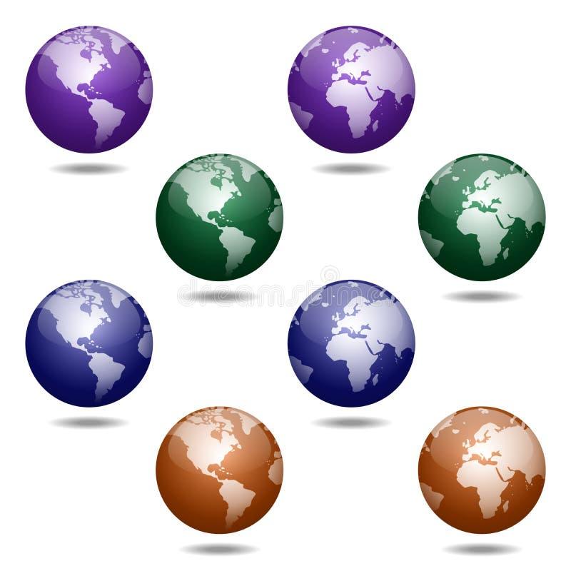 Download Kule ziemskie ilustracji. Ilustracja złożonej z globalizujący - 28959989
