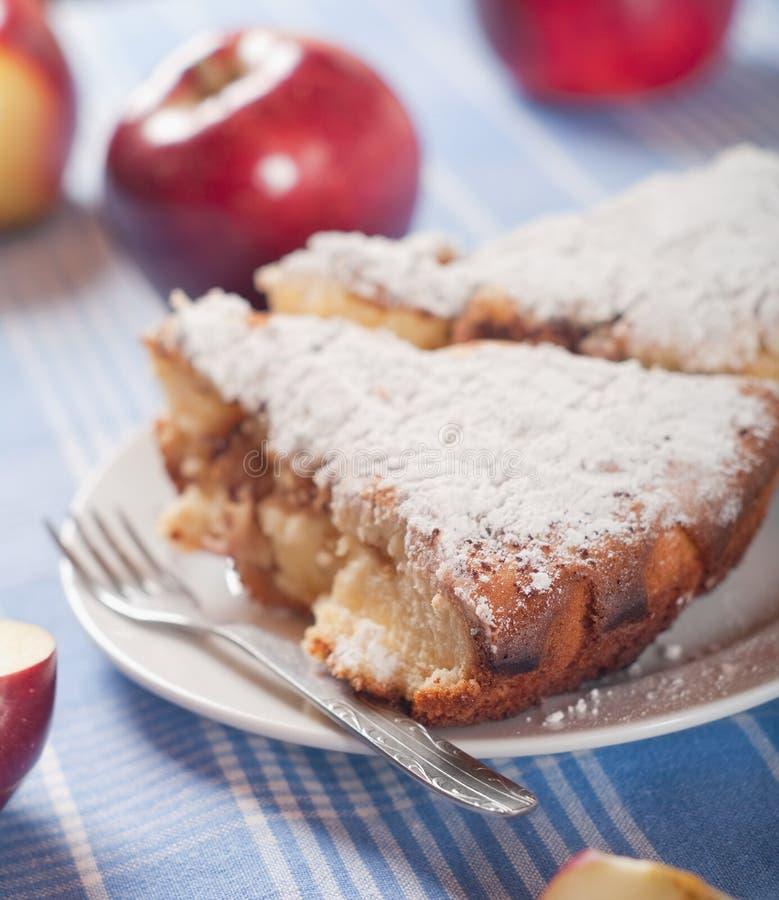 Kulebiak z jabłkami fotografia royalty free