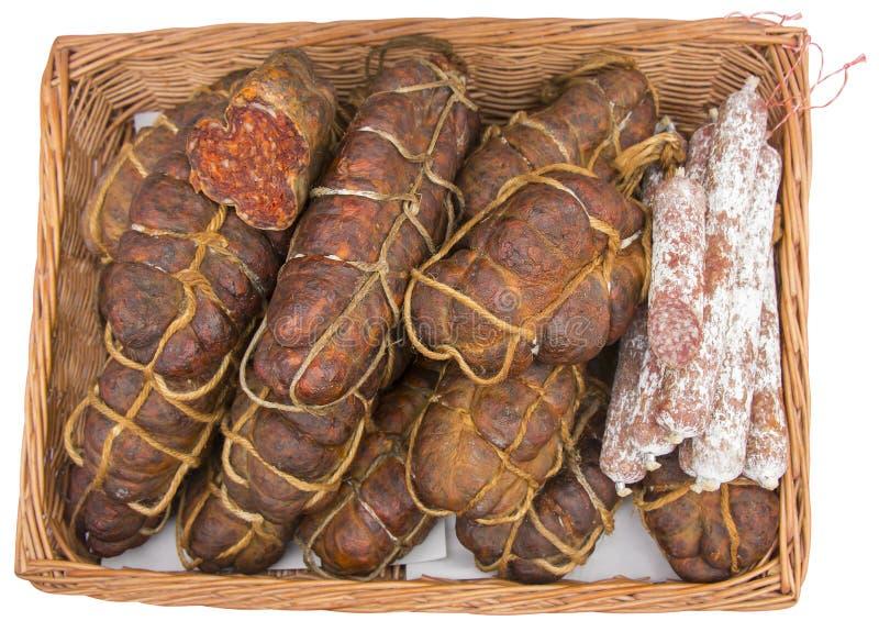 Kulen известная подлинная пряная сосиска стоковая фотография