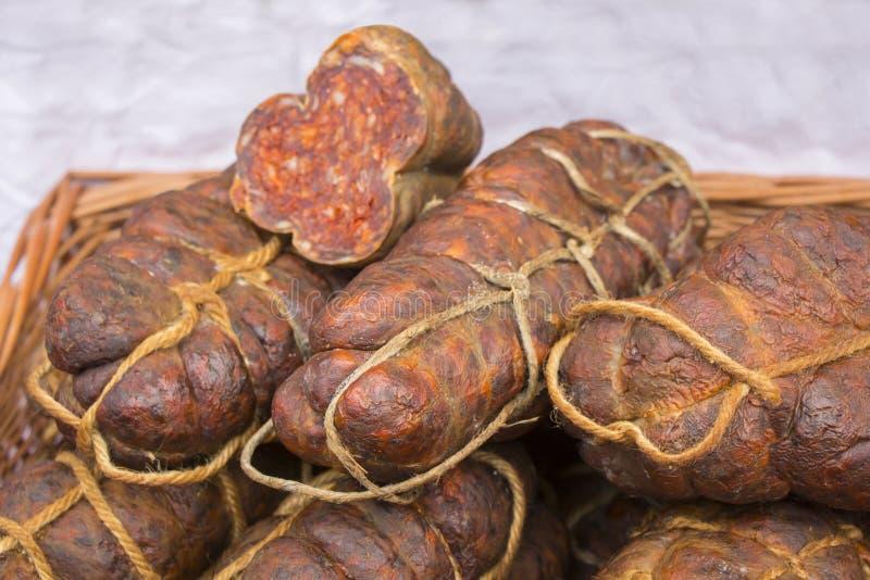 Kulen известная подлинная пряная сосиска стоковое фото