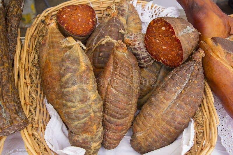 Kulen известная подлинная пряная сосиска стоковое фото rf