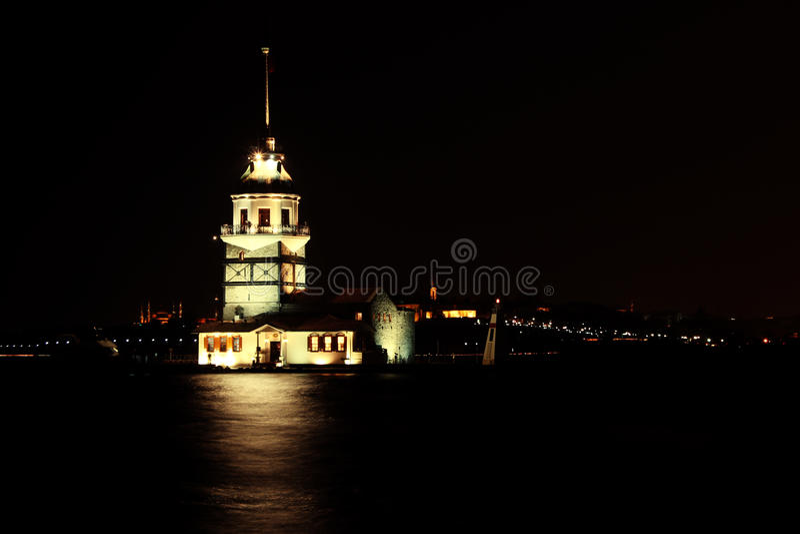 Kulesi di Kız - İstanbul & x28; Maiden& x27; s Tower& x29; immagine stock
