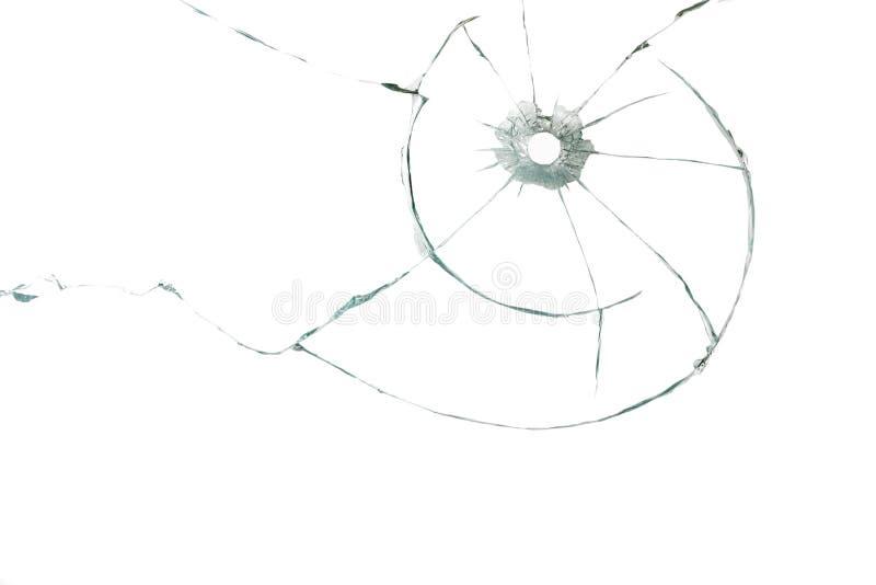 Kulhål i exponeringsglas arkivbild