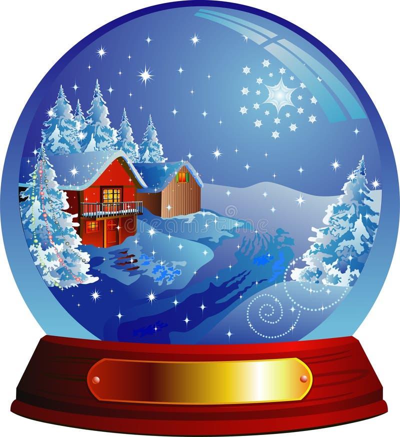kuli ziemskiej domu śniegu wektor ilustracji
