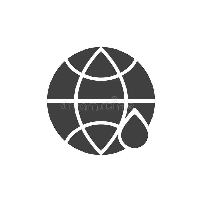 Kuli ziemskiej i wody opadowa wektorowa ikona ilustracji
