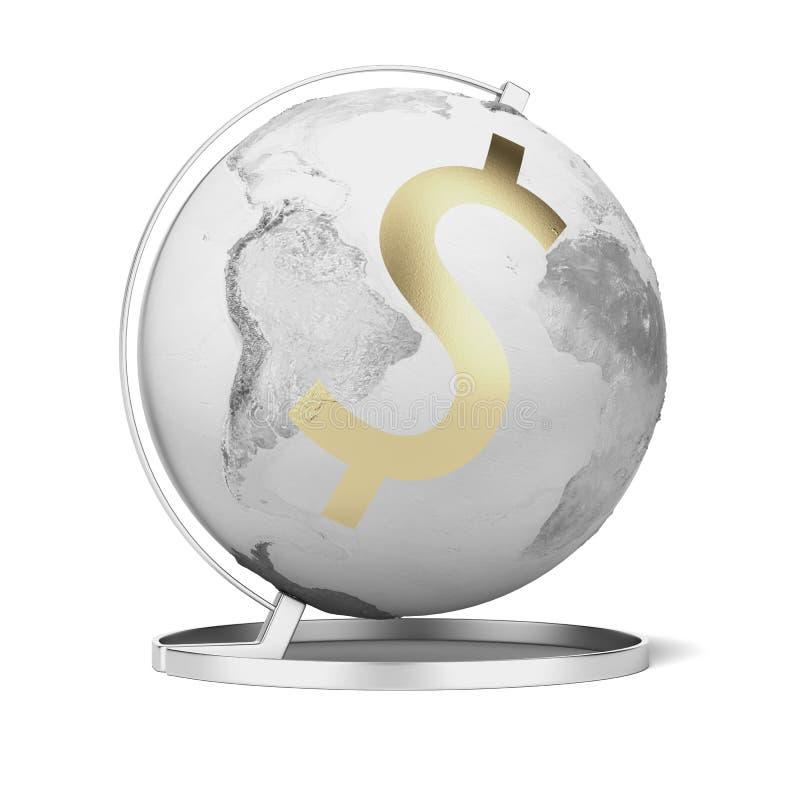 Kuli ziemskiej i złota dolar ilustracji