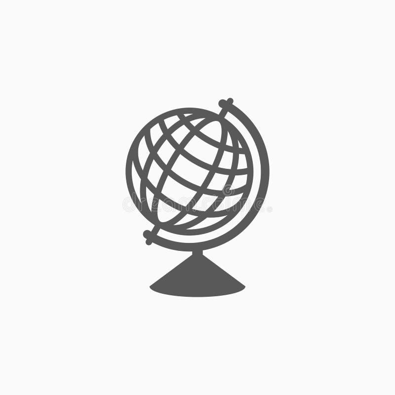Kuli ziemskiej ikona, świat, ziemia, mapa ilustracji