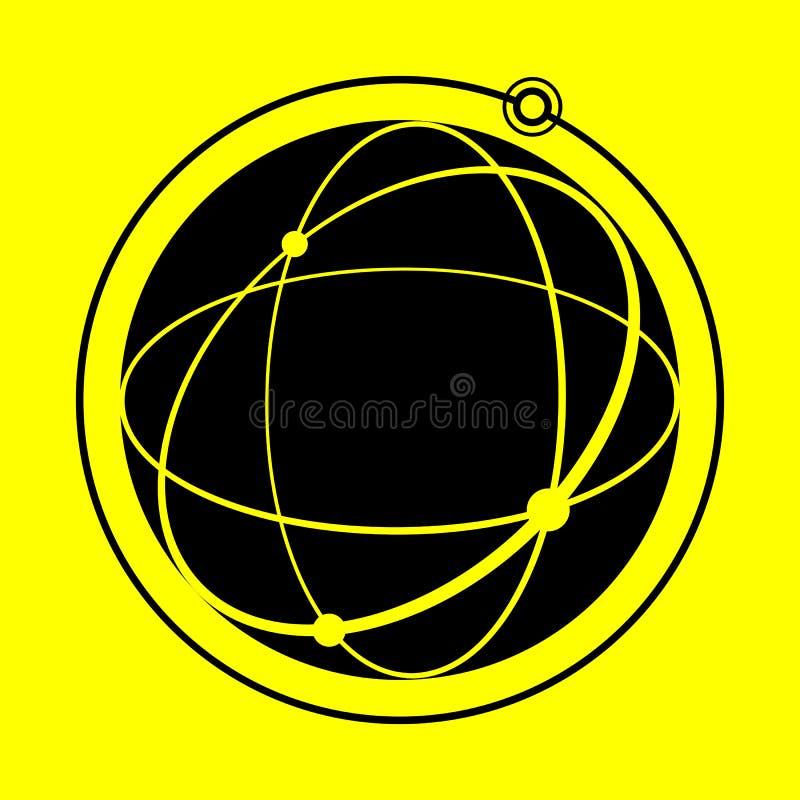 Kuli ziemskiej ikona royalty ilustracja