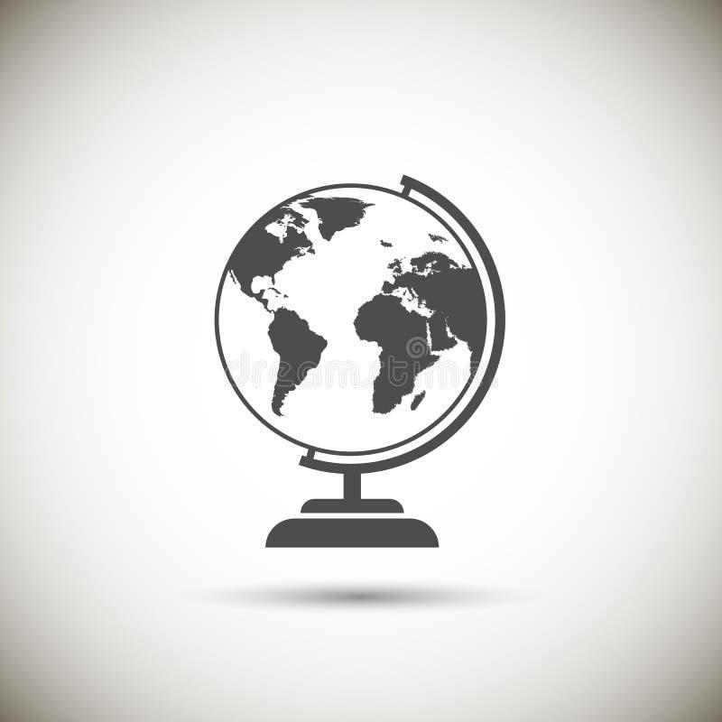 Kuli ziemskiej ikona ilustracja wektor