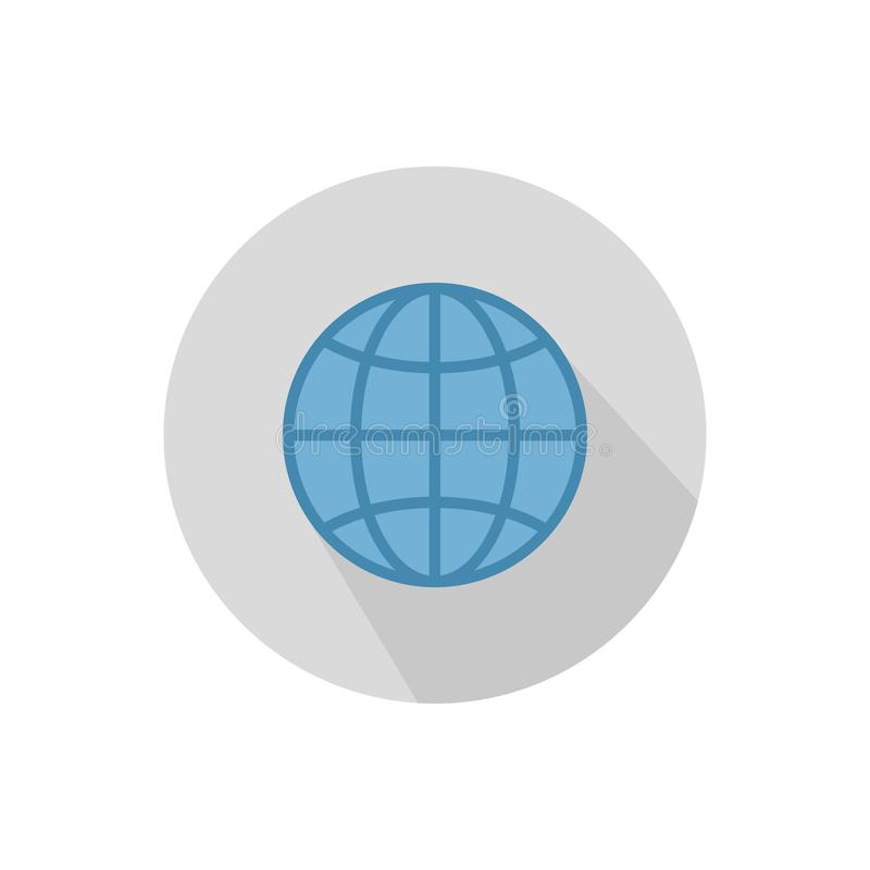 Kuli ziemskiej ikona Kula ziemska symbol ilustracji