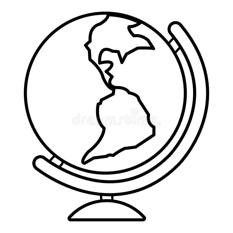 Kuli ziemskiej ikona, zarysowywa kreskowego styl ilustracji
