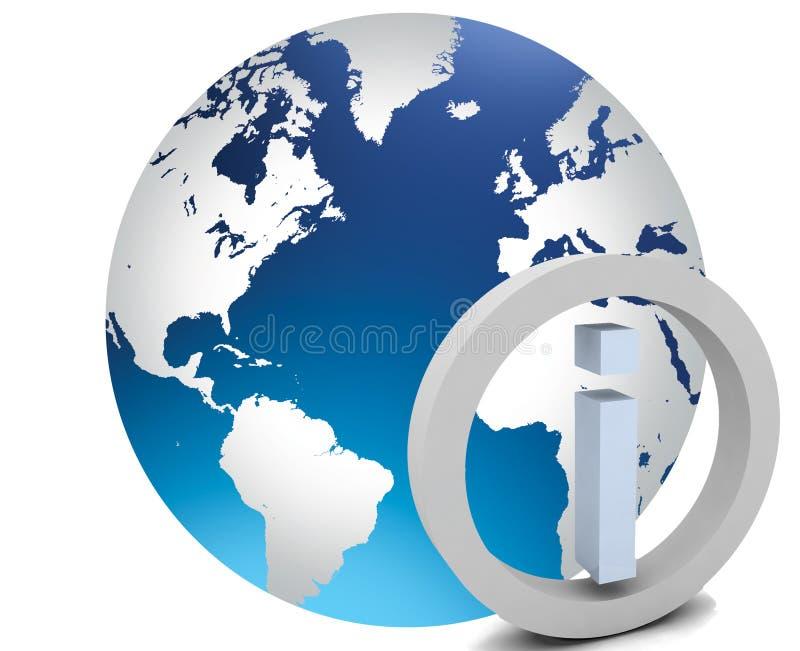kuli ziemskiej ikony info świat ilustracji